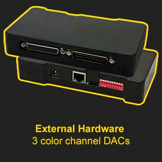 ShowNET External Hardware DACs 3-channel