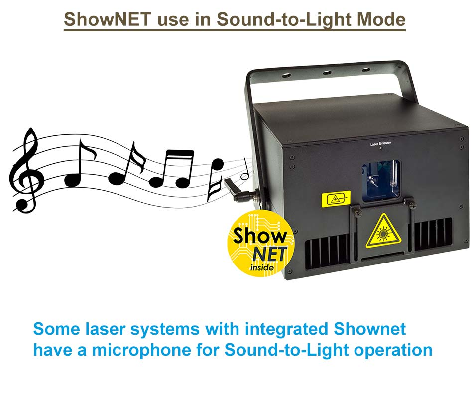Feature ShowNET Sound to Light control graphics